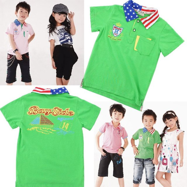 a9e32e5d9281 Free shipping knitted 100%cotton 5size lot boys t shirt