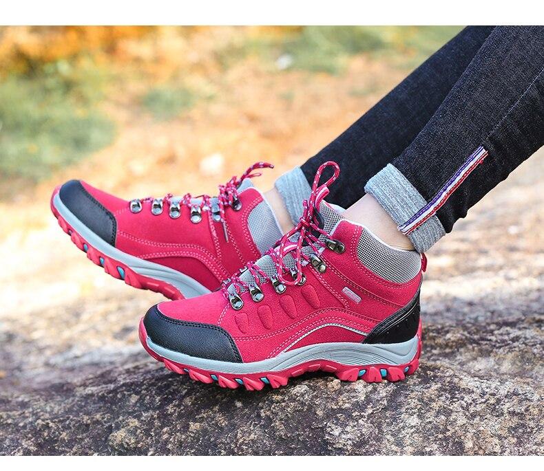 Moda Unissex Sapatos Pro-Montanha Trekking Escalada Resistente Ao Desgaste Calçados