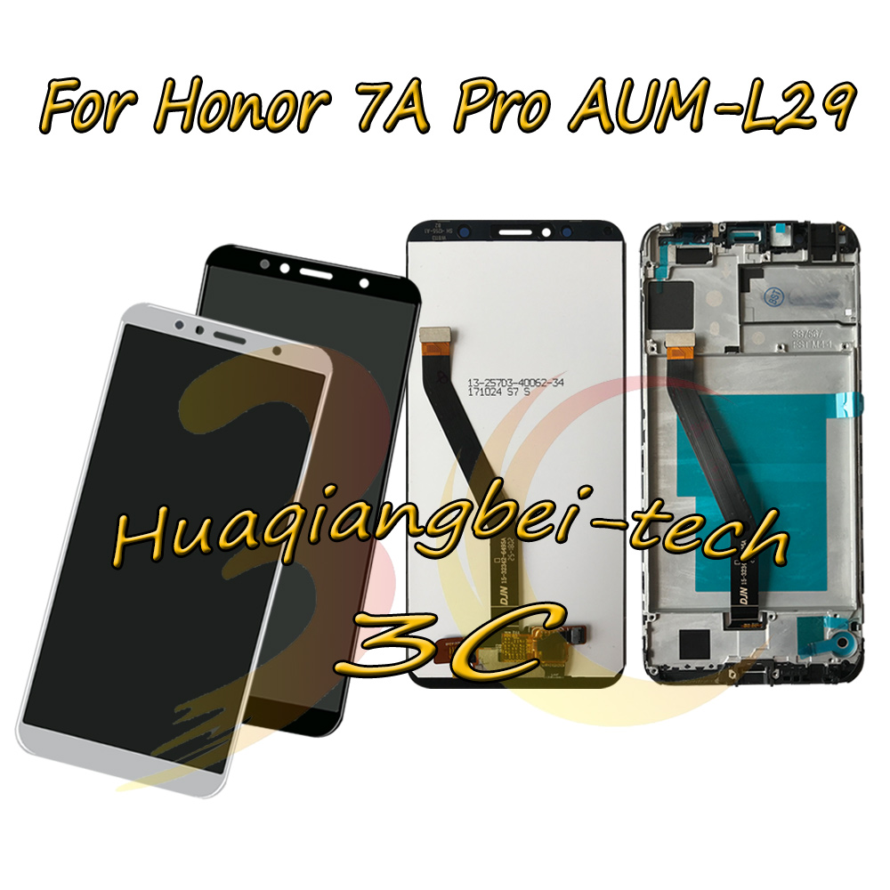 5.7'' New For Huawei Honor 7A Pro AUM L29 LCD DIsplay Touch Screen Digitizer Assembly + Frame Cover For Huawei Honor 7C AUM L41-in Mobile Phone LCD Screens from Cellphones & Telecommunications