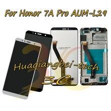 5.7 nowy dla Huawei Honor 7A Pro AUM L29 wyświetlacz LCD ekran dotykowy Digitizer montaż + osłona ramy dla Huawei Honor 7C AUM L41