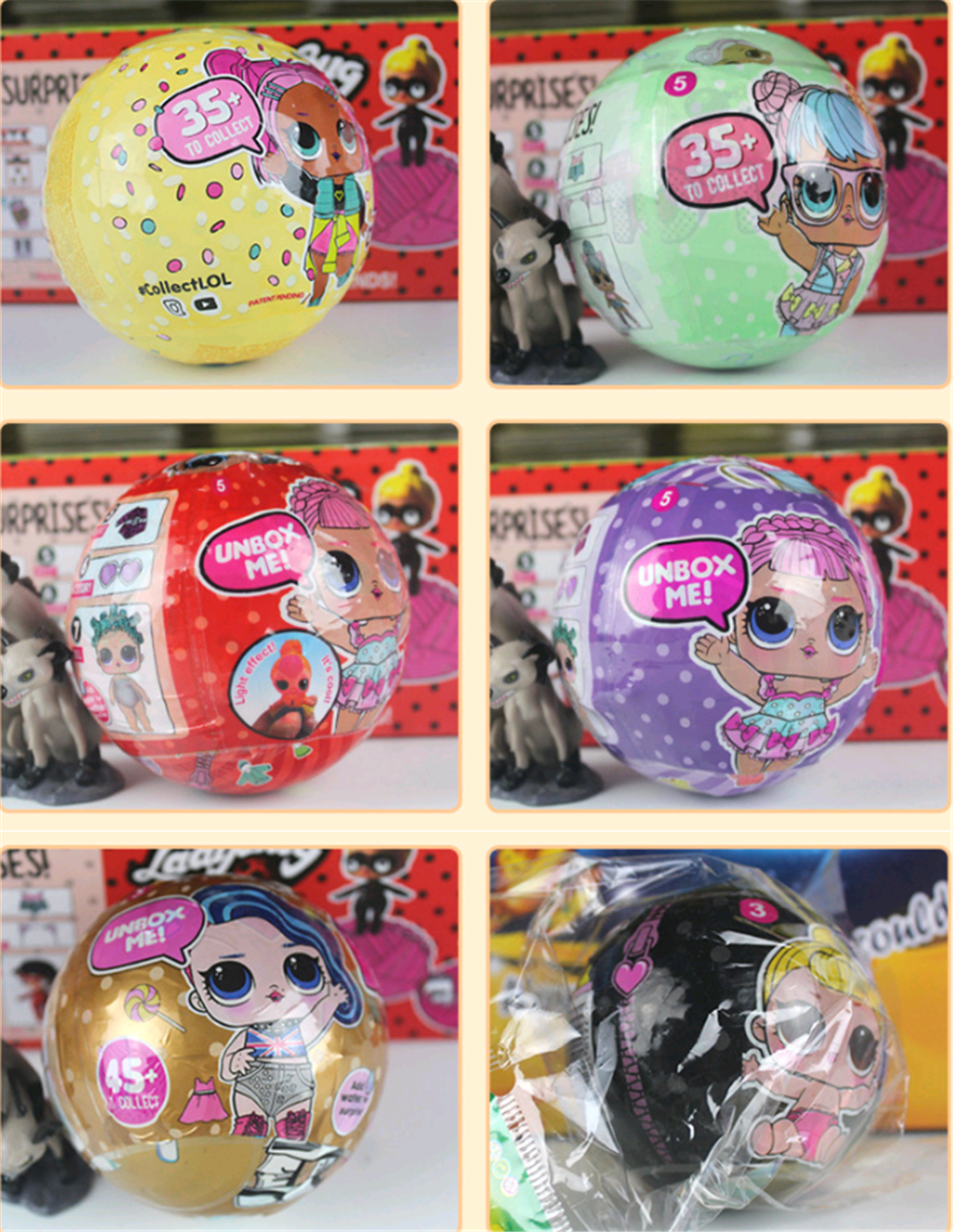 lol Doll 3 Mermaid Figures Little Girls Figures In Ball Lps Pets In Boneca Eggs Ball