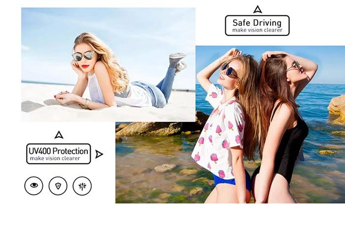 FREE Women Retro Round Oversize Summer Holiday Colorful Sunglasses 4