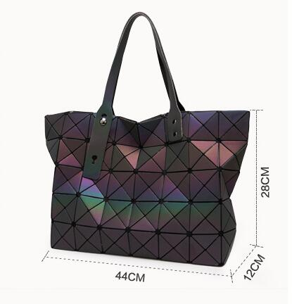 Maelove 2017 Uus stiil Naiste kott Geomeetria juhuslik tald õlakott - Käekotid - Foto 2