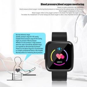 Image 3 - Смарт часы VERYFiTEK Y7 с монитором кровяного давления, пульсометром, фитнес трекером, водонепроницаемые часы для мужчин и женщин, Смарт часы для Android и IOS