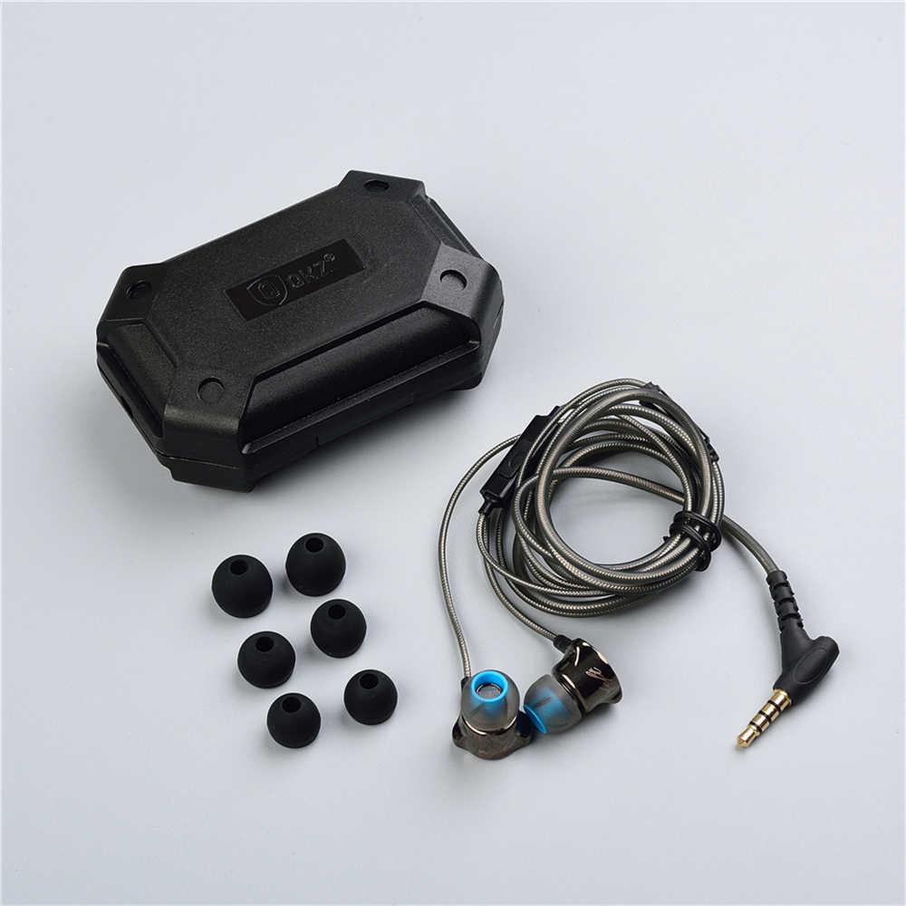 אוזניות באוזן אוזניות HiFi אוזן טלפון מתכתי אוזניות סטריאו באוזן אוזניות QKZ X10 אבץ סגסוגת רעש מבטל אוזניות DJ