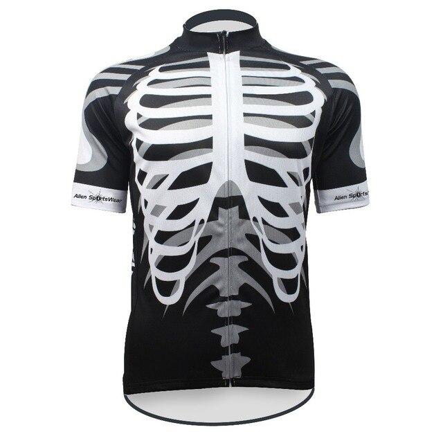 9799bf68f New Skeleton Alien SportsWear Mens Cycling Jersey Cycling Clothing Bike  Shirt Size 2XS TO 5XL