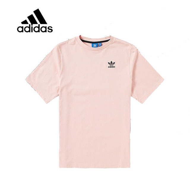 a2ebc6ee0b US $32.4 40% OFF|Original New Arrival Authentic Adidas Mens T shirts Short  Sleeve Male Pink Leisure Sportswear Breathable Quick Dry Shirt CF5321-in ...
