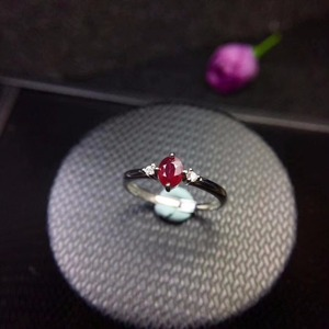 Image 5 - New shop promotion natural ruby lady ring color good 925 Silver Mosaic explosion recommended
