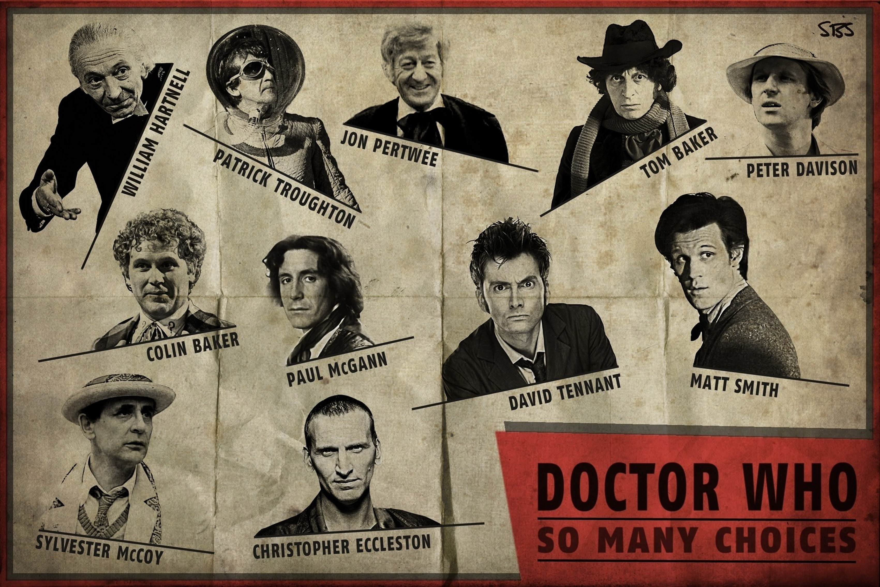 Home decoration Doctor Who The Doctor David Tennant Christopher Eccleston Silk Fabric Poster Print DY056