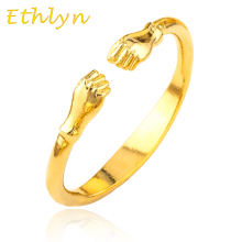 Ethlyn Fist bangles for men jewelry Gold Color Opening embossing gold dubai/Ethiopian/Brazil/bracelets&bangles for men B36