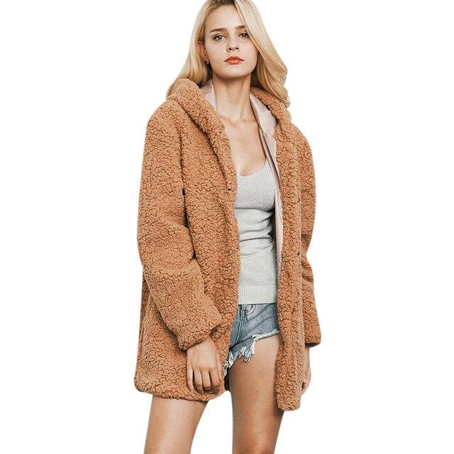 Aliexpress.com : Buy Faux Fur Coats Women Lamb Coats Winter Female ...