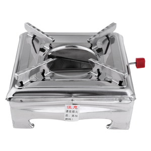 Image 2 - Stainless Steel Portable Alcohol Stove Burner Furnace for Outdoor Camping Travell Hiking Backpacking BBQ Picnic Accessories