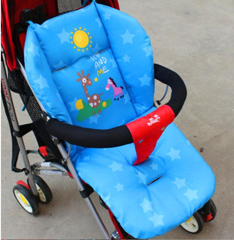 Cartoon Baby Stroller Seat Thermal Thicken Pad Child Carriage Cushion Cushion Cart Stroller Mattresse Pillow Cover