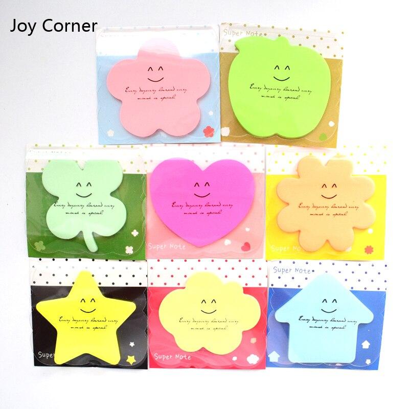 Joy Corner Drop Shipping (8 Pieces/Lot) Planner Scrapbook Paper Candy Color Papeleria Post it Scrapbook Supplies Memo Pads