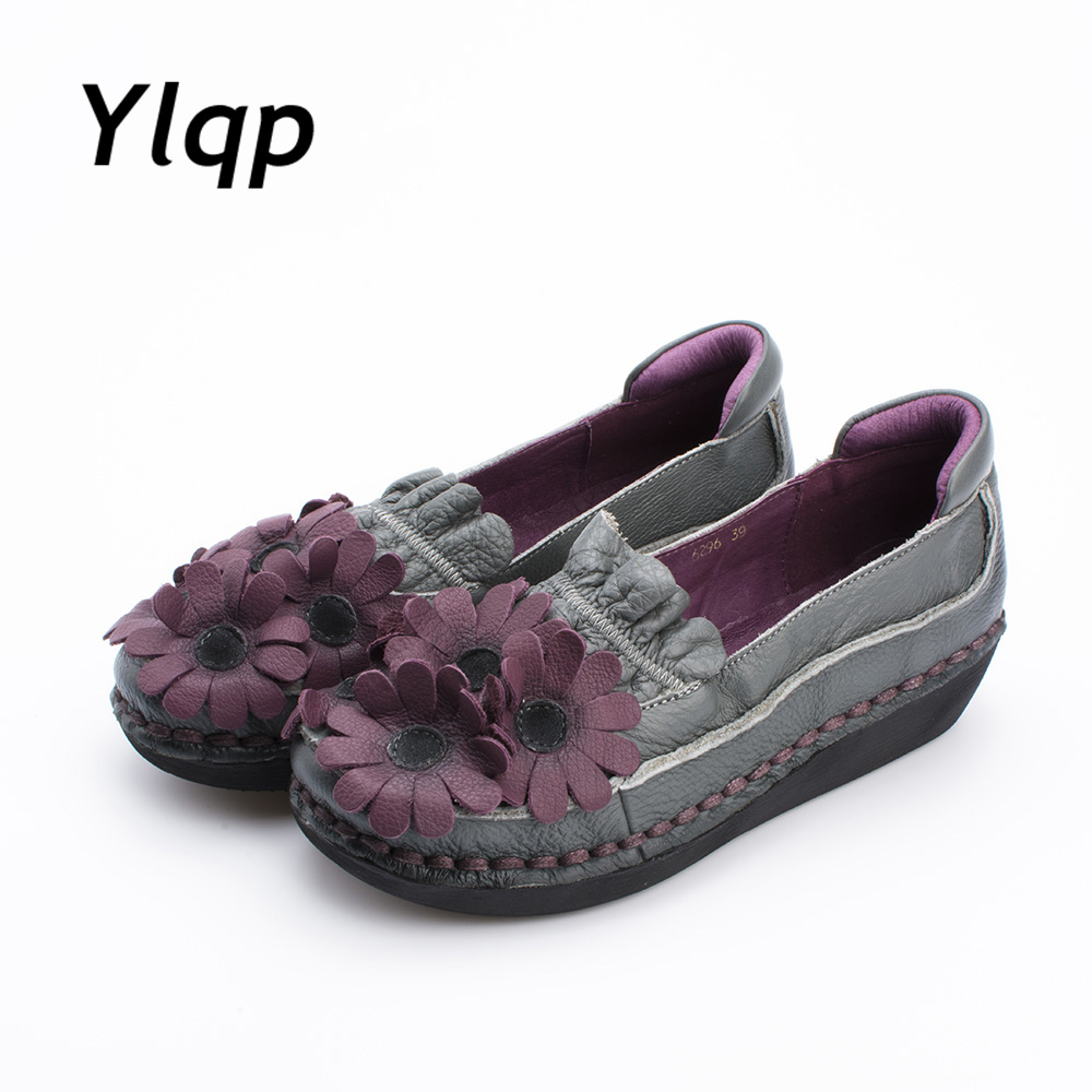 2017 Fashion Loafers Comfortable Women Genuine Leather Flat Shoes Woman Casual Work Driving Shoes Women Flats sapato feminino