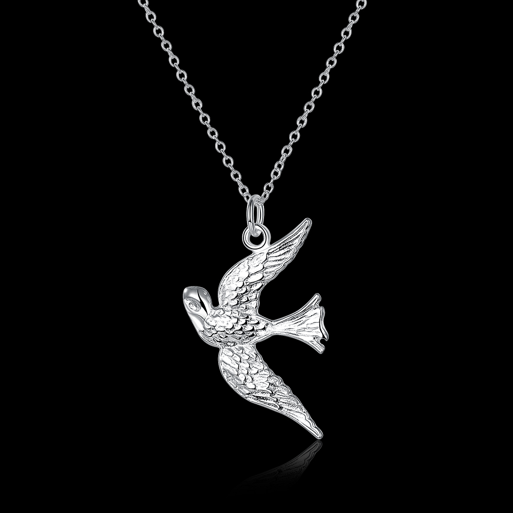 N151 Hot Sale Fashion Silver Plated Lovely Bird Pendant Necklace,Fashion Silver 925 Jewelry Necklace For Women