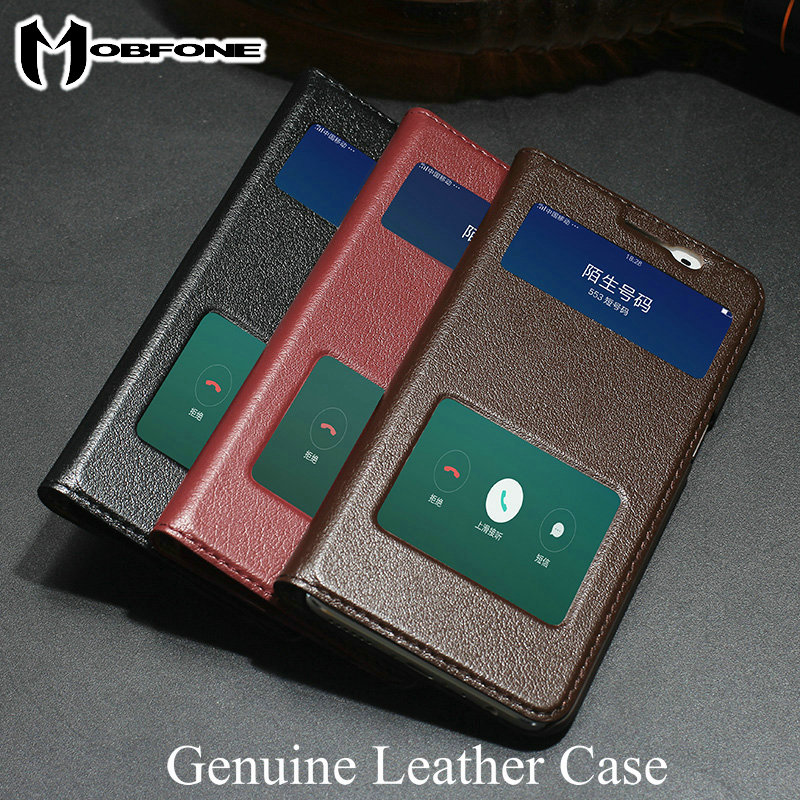 reputable site 6c0be 65a83 US $12.99 |DLS Genuine Leather Case For BBK Vivo V5 Plus 5.5inch Luxury  Vintage View Window Flip Cover With Stand Function -in Flip Cases from ...