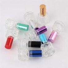 XYZ-7 ML Fashion Mini Portable Color Glass Eau De Parfum Spray Empty Bottle Glass Perfume Bottle Glass Spray Bottle Aluminum Pum