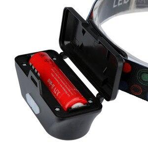 Image 5 - XPE COB LED פנס 6 מצב פנס רצועות פנסי מתכוונן נטענת ראש לפיד להשתמש 18650 סוללה עבור קמפינג