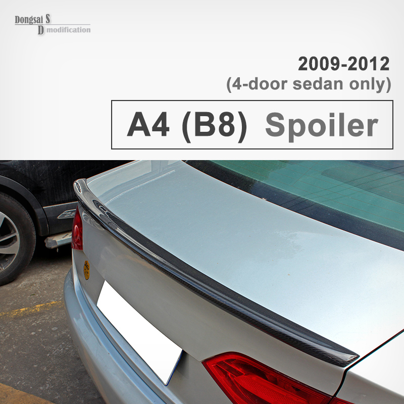 A4 B8 S4 Style Carbon Fiber Spoiler For Audi A4 B8 2009 - 2012 Rear Trunk Spoiler Wing For Audi A4 A4L B8 4-Door Sedan only only a promise