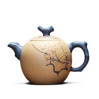 2018 Genuine full handmade Zisha teapot Yixing teapot original mine purple mud 320cc (with certificate)