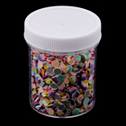 fityle 1 Bottle Bulk Slime Charms Lots Resin Buttons for DIY Phone Case, Scrapbooking, Cards,Head Rope, Flatback