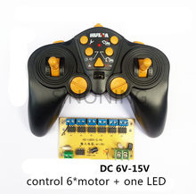 12 CH high-power 2.4G Radio remote control and receiver for car ship Tank excavator DIY 6-15v 12V(China)