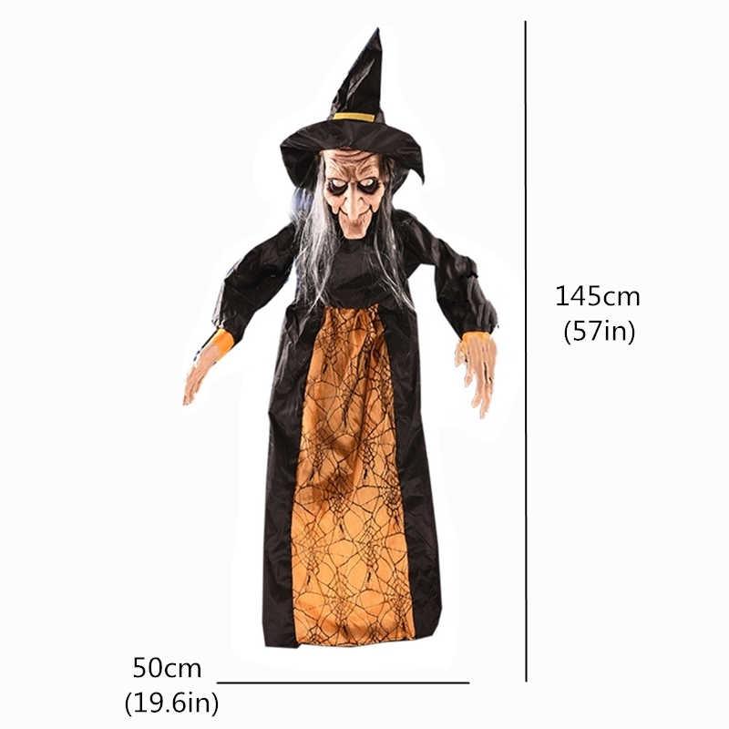 Bruxas animadas horror decorações de halloween horror elétrico halloween fantasma casa assombrada porta barra assustador halloween party adereços