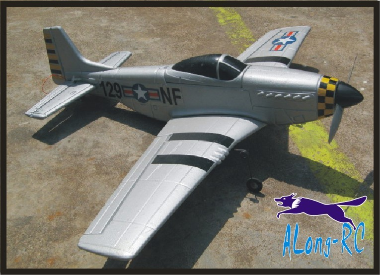 где купить EPO plane warII RC airplane RC MODEL HOBBY WINGSPAN 870MM P51 P-51 MUSTANG Fighter (have kit set or PNP set ) по лучшей цене