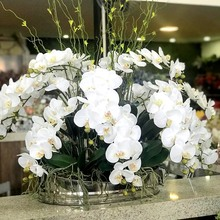 1pc nine heads high quality Wedding Decoration Artificial Flowers Artificial Butterfly Orchid latex Flower Home Wedding decor