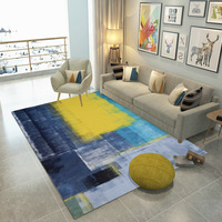 Nordic Abstract Ink Splash Drawing Carpet for Living Room Large Size Rectangle Geometric Bedroom Rugs Carpets Non slip Mats