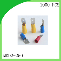 Hot Sale Brass 1000 PCS MDD2 250 Cold Pressure Terminal Male Pre Insulated Electrical Crimp Terminal