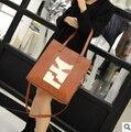 Корейский свободного покроя холщовый мешок роскошные женщины дизайнерские сумки высокое качество бренд клатч borse д . а . донна марке famose 49