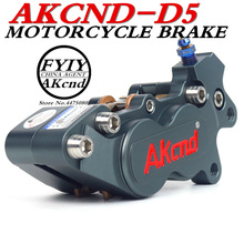 AKCND Universal Motorcycle 40mm Brake Calipers With 4 Piston for smax155 bws nvx max125 MotoRacing Dirt Bike Scooter