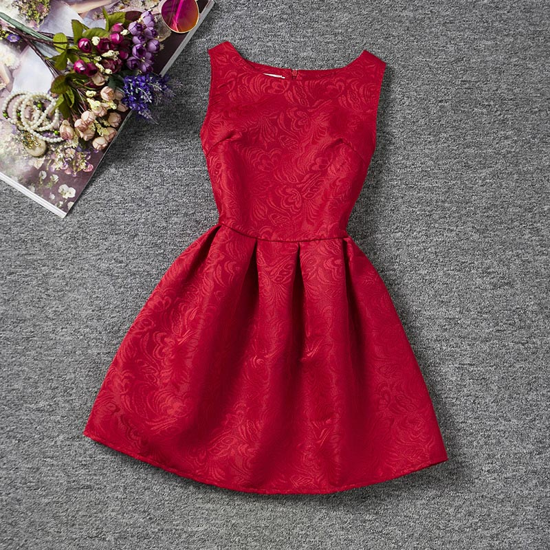 2016 korean style summer red a line princess teenage girls. Black Bedroom Furniture Sets. Home Design Ideas