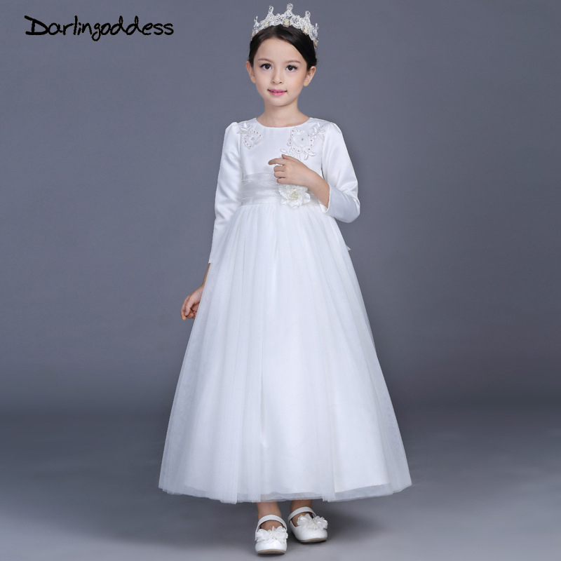 Darlingoddess lace flower girl dresses for weddings 2018 white kids darlingoddess lace flower girl dresses for weddings 2018 white kids evening dress holy communion dresses for girls pageant gowns mightylinksfo