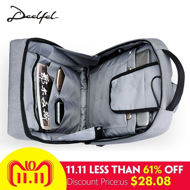 DEELFEL Men Backpack Travel Backpack 15.6 inch Computer Backpacks Male Mochila Anti theft Waterproof Travel Bags for Men 2018
