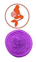 Mermaid Custom Luxury Wax Seal Sealing Stamp Brass Peacock Metal Handle Sticks Melting Spoon Wood Gift