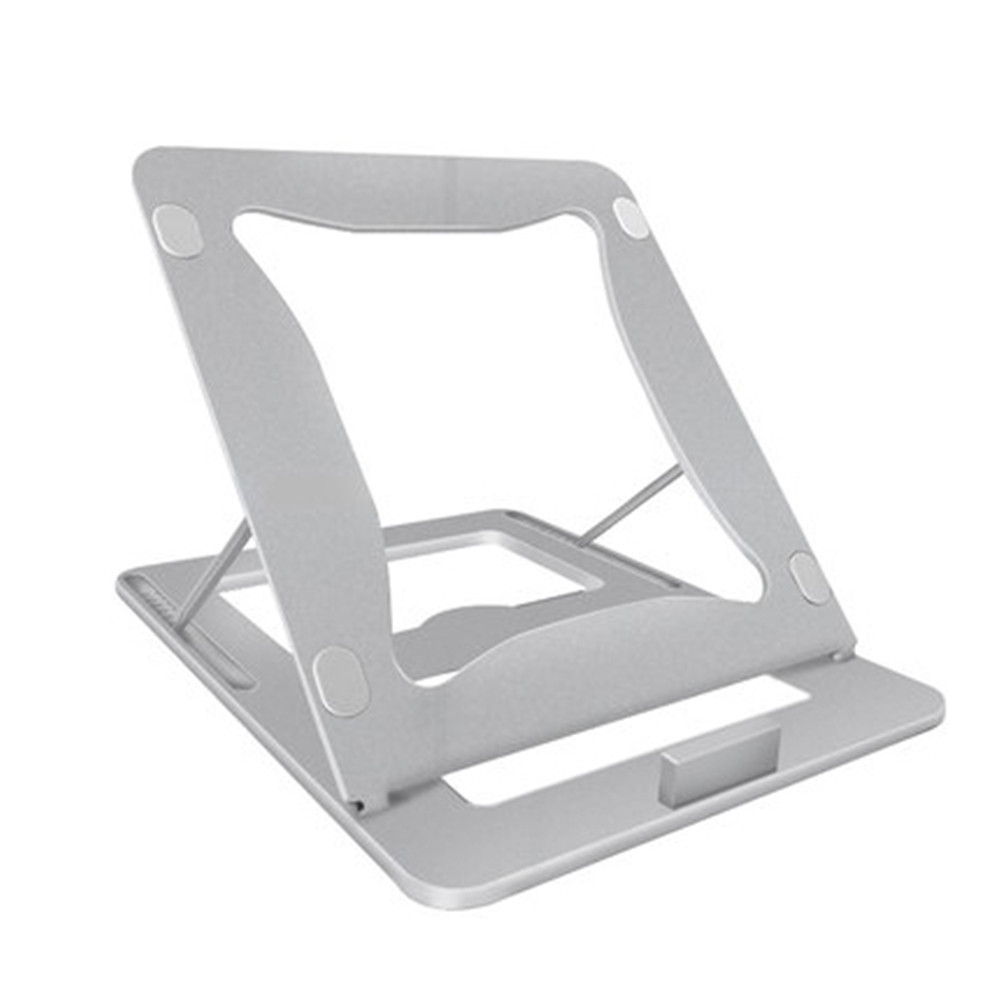 11 to 17 inch Notebook Holder Anti Slip Adjustable Height Rotation Stand Portable Aluminum Alloy Laptop Bracket for Office Home arc shaped laptop storage holder aluminum alloy anti slip silicone tablet desk bracket for office home for macbook asus