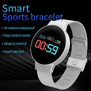 Image 3 - Dropshipping tanie BluetoothSmart zegarek dla androida/IOS iphone wodoodporny ekran dotykowy sport zdrowie inteligentny zegarek damski