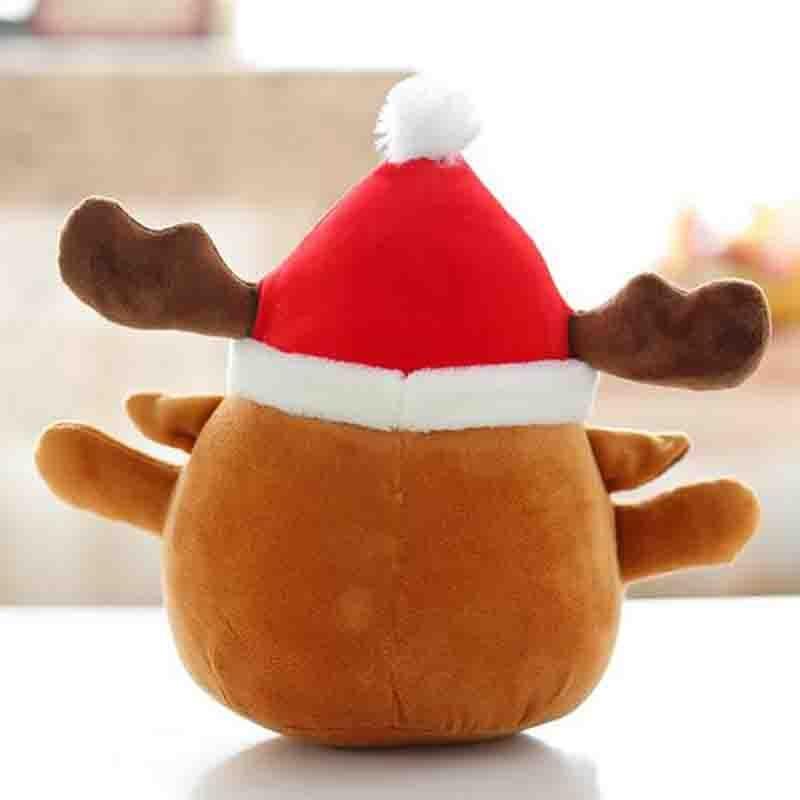 Cartoon lustig Glücklich Santa Reindeer Plüschtiere Weihnachten Elch ...