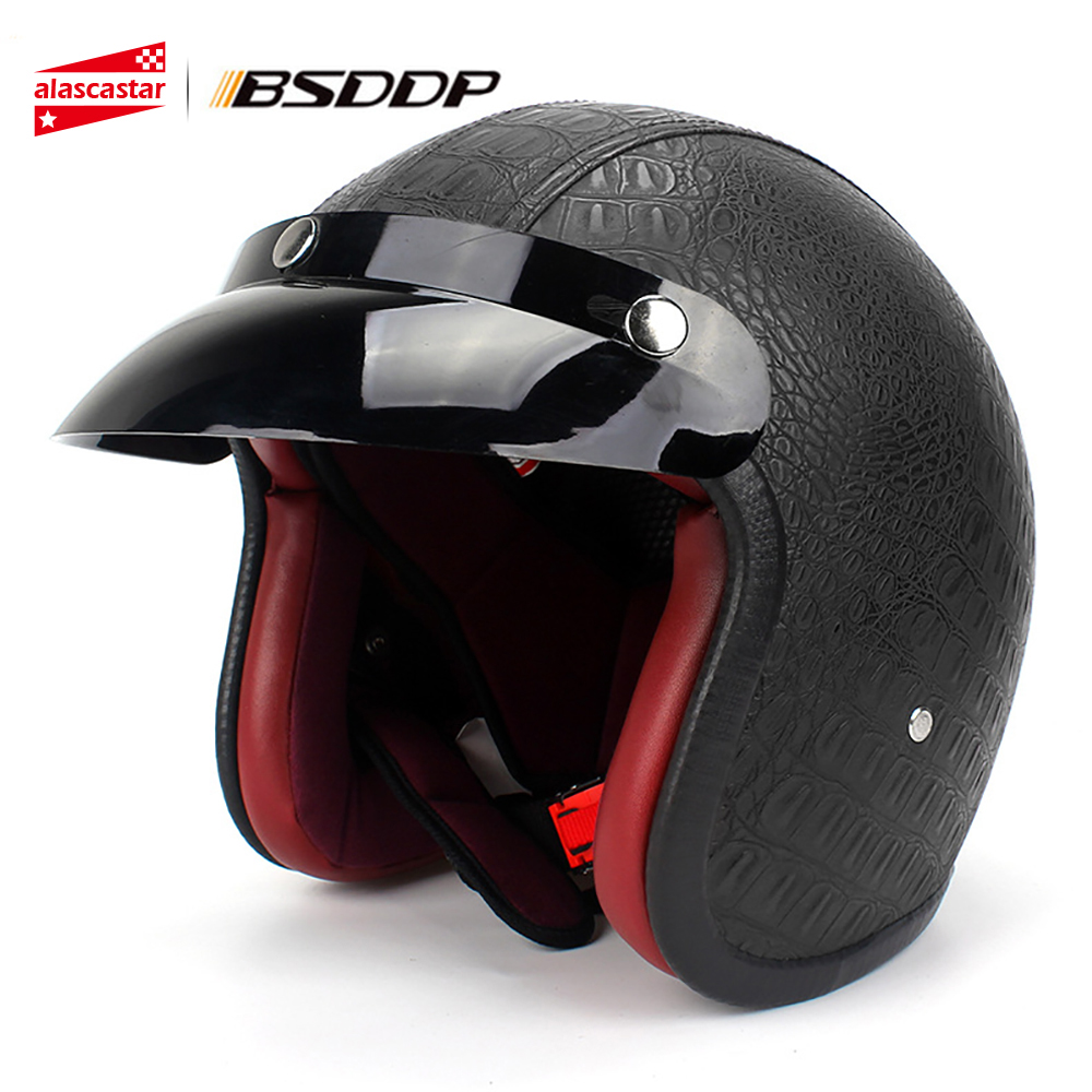 New Motorcycle Helmet Vintage Style Open Face Chopper Cruiser Biker Scooter Touring Riding Motorbike Capacete Casco Moto Helmet new german vintage style motorcycle helmet cruiser scooter touring half helmet dot retro motorbike capacete casco moto helmet