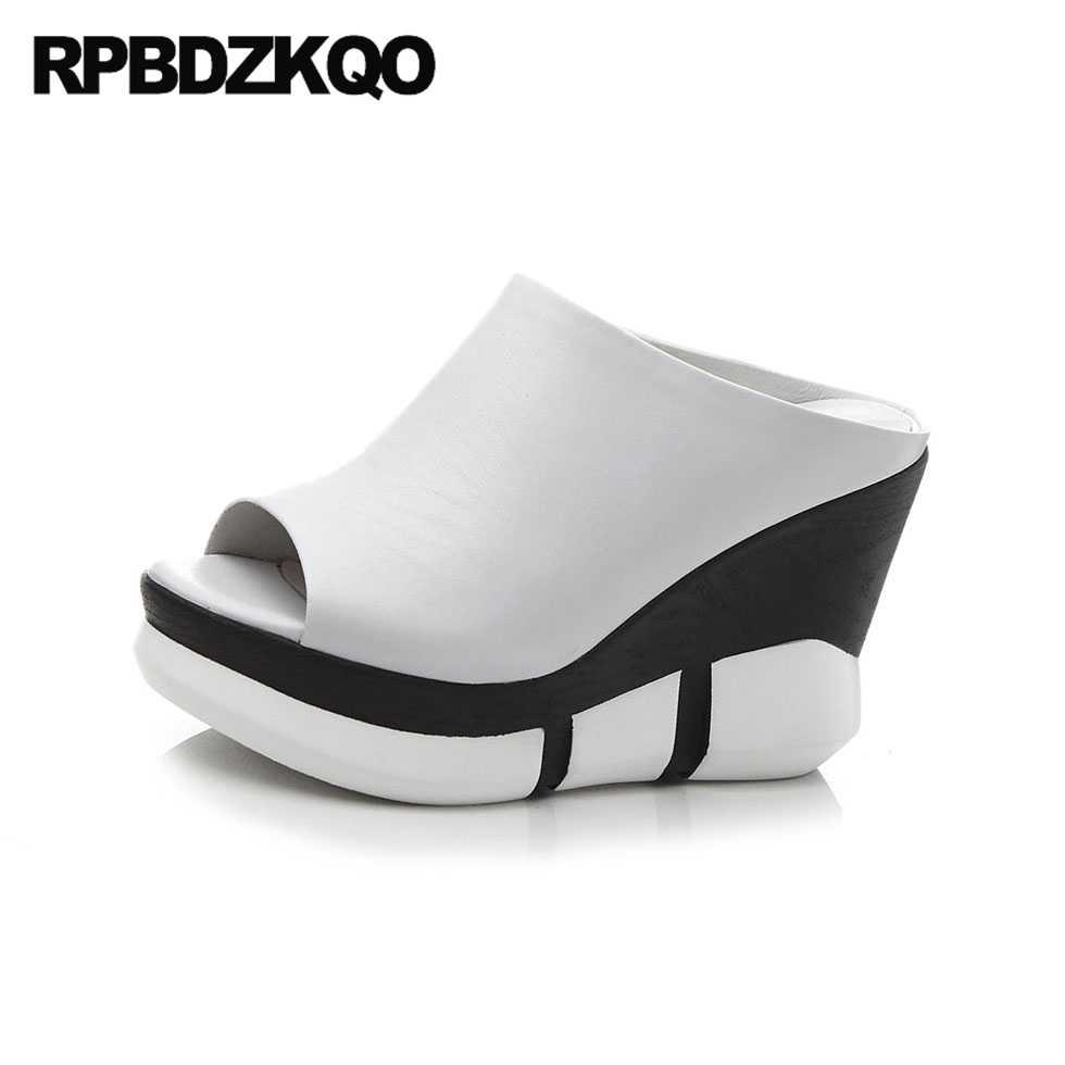 80c6dd993 ... Mules Runway Peep Toe White High. RELATED PRODUCTS. Creepers Extreme  Ladies 12cm 5 Inch Pumps Harajuku Casual White Wedge Shoes Hidden High  Heels Round