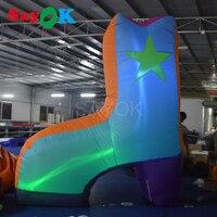 Sayok 3 м Высокое гигантские надувные Обувь со светодиодной подсветкой с 13 Цвет изменяя света для рекламы событие праздничный вечерние украше