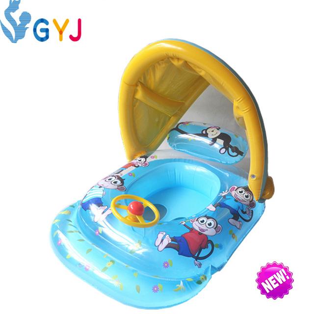 Sombrilla flotador bebé 0-5years bebé niños floatinginflatable agua flotante flotante inflable bebé piscina para niños piscina flotador lindo