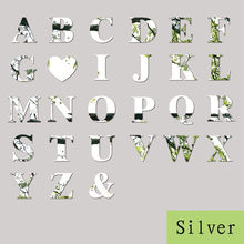 26 Letters Silver Mirror Wall Sticker Acrylic Wall Decals DIY Mural Art Home Decor Making Words Birthday Decoration(China)