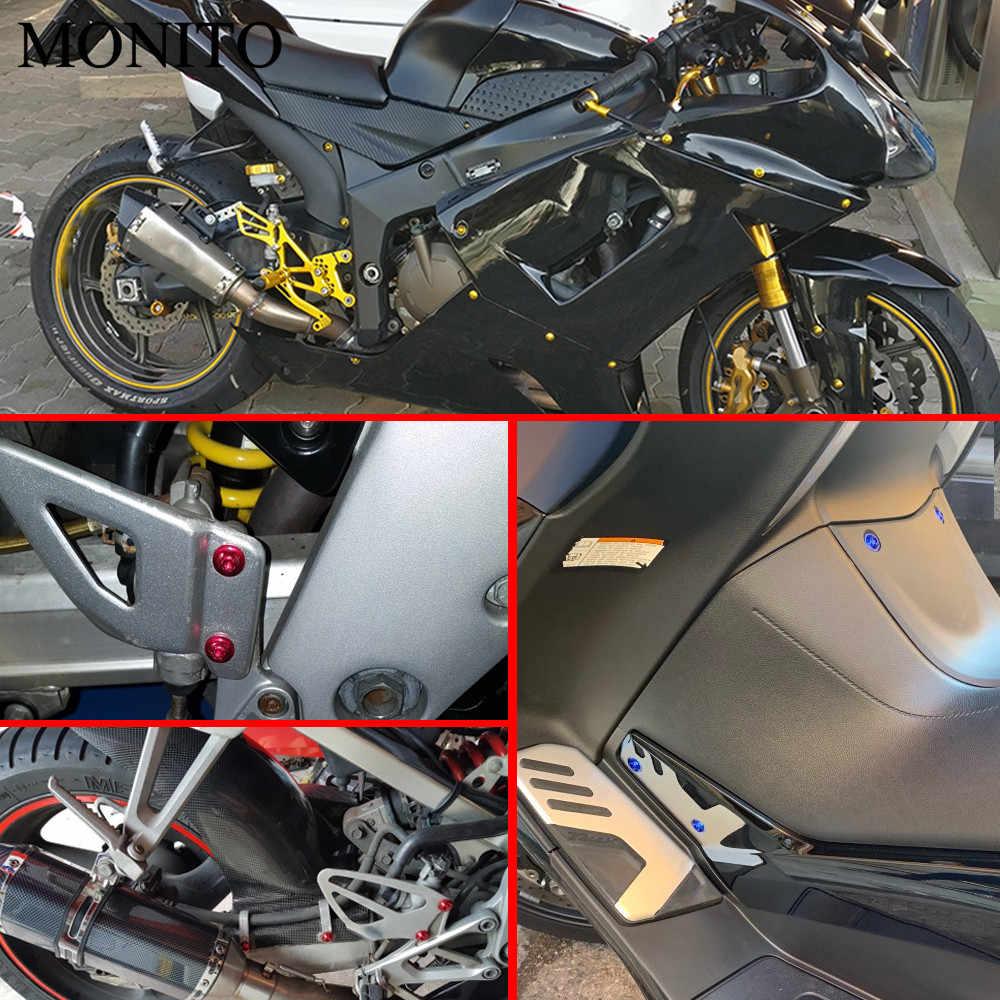 10 個の Cnc bmw f800gs s1000r rsv4 yamaha nmax 155 300 xmax530 オートバイフェアリングネジカスタムモトボディ春ナットボルト