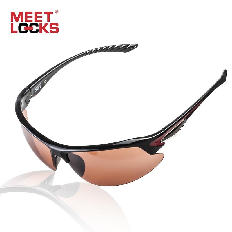 MEETLOCKS Cykelbriller Sport Solbriller Shatterproof Ubrudt PC-objektiv Justerbar Nosepad Letvægt gafas ciclismo