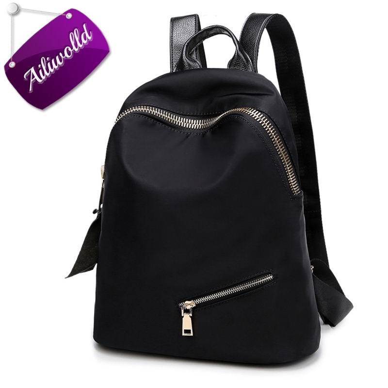 Women Backpacks Trendy Casual Waterproof Nylon Backpack  Simple Female School Bag For Teenagers Girls Travel Mochilas Rucksack