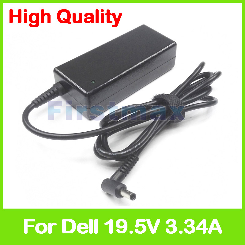 19.5V 3.34A 65W laptop AC power adapter charger for <font><b>Dell</b></font> Inspiron 17 5755 5758 5759 P60G P64G Vostro 14 <font><b>3458</b></font> 3458D 3459 5459 image